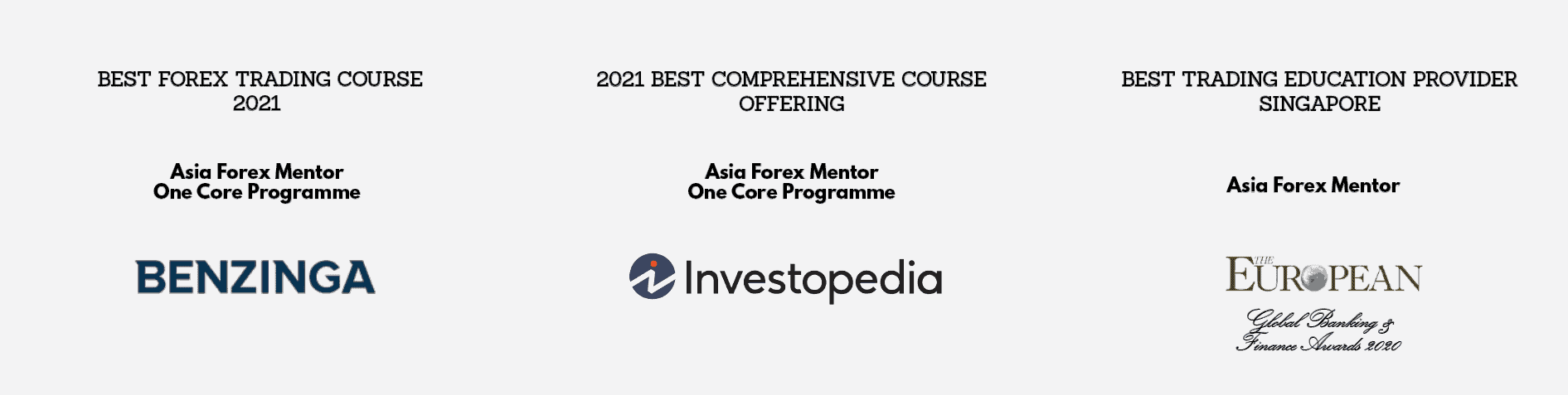 best forex trading course award to Asia Forex Mentor